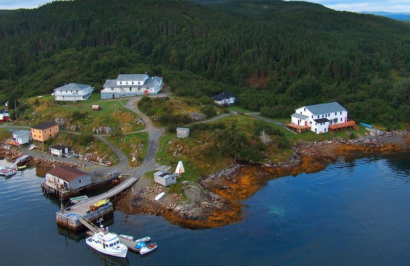 Aerial view of Woody Island Resort.