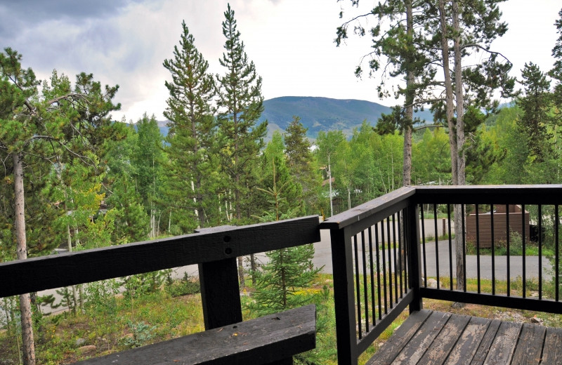 Rental balcony at Mtn Managers Lodging.