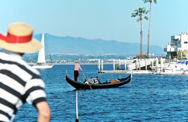 Gondola rides at Loews Coronado Bay Resort.