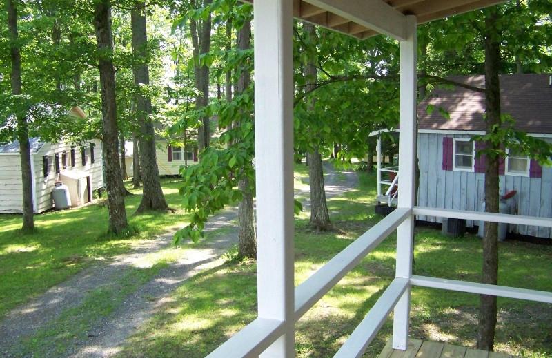 Cottage deck view at Fieldstone Farm.