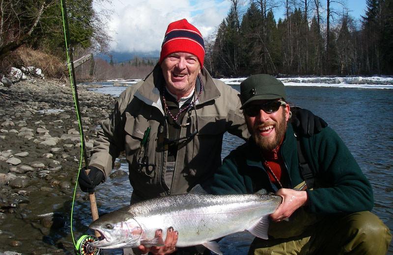 Fishing at Z-Boat Lodge River Guides.