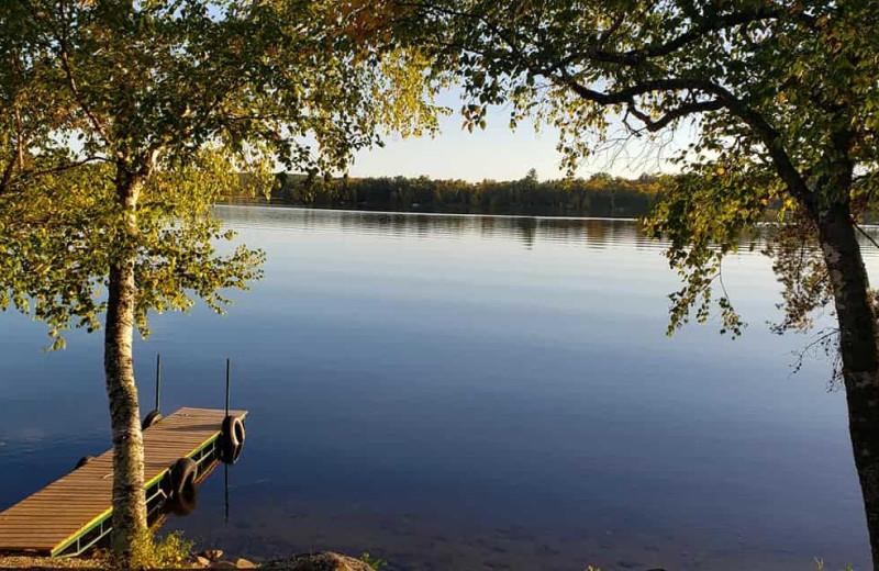 Lake at Little Norway Resort.