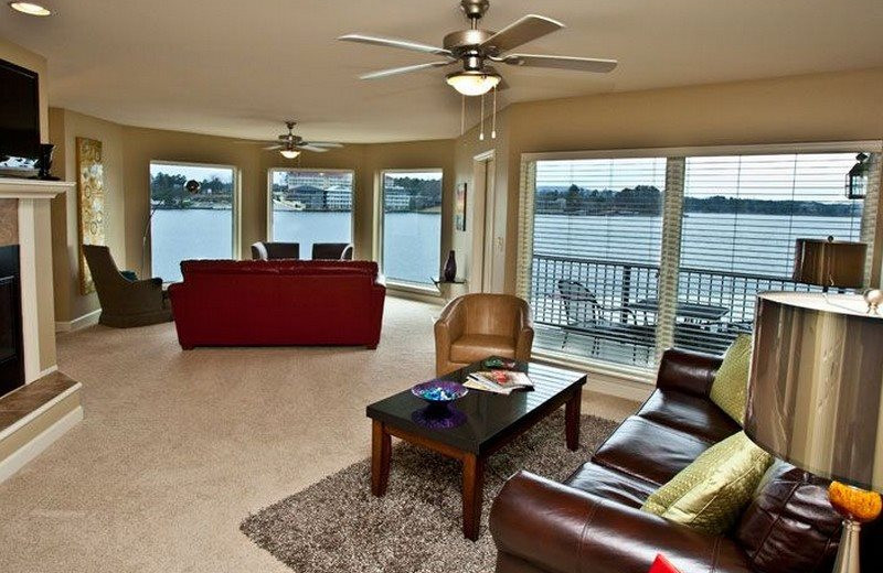 Rental living room at BlueSky Vacation Homes.