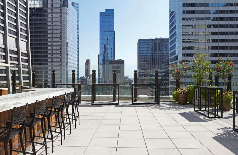 Patio at Hyatt Centric the Loop Chicago.
