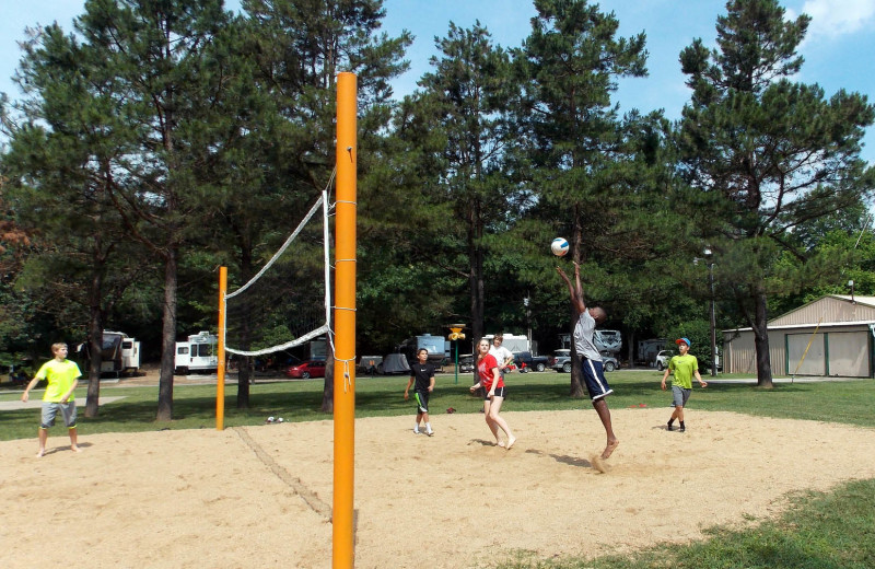 Volleyball court at MarVal Resort.