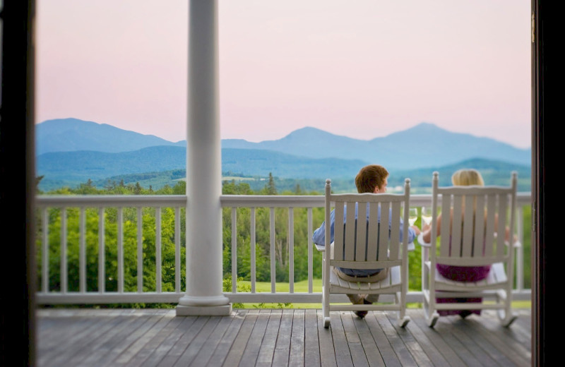Relaxing on the porch at Mountain View Grand Resort & Spa.