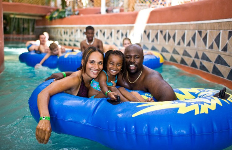 Family at Kalahari Waterpark Resort Convention Center.