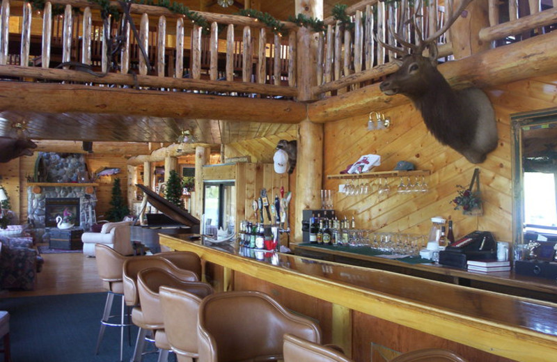 Dining at The Angler's Lodge.