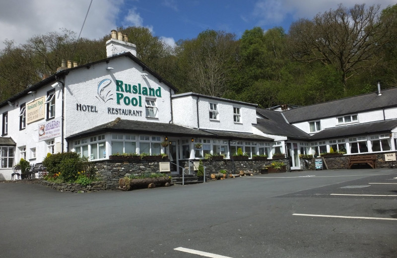 Exterior view of Rusland Pool Hotel.