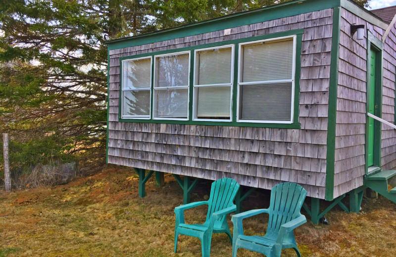 Cabin exterior at Flanders Bay Cabins.