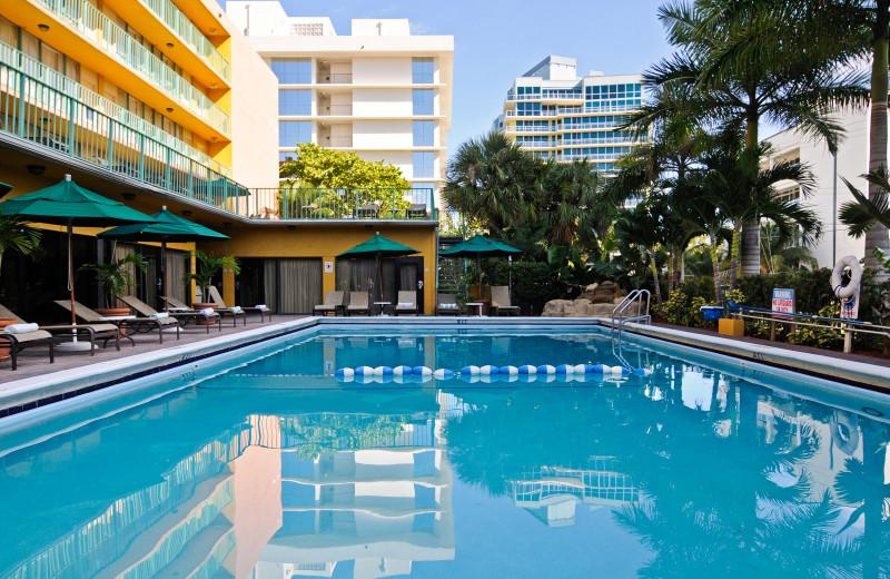 Outdoor pool at Best Western Plus Oceanside Inn.
