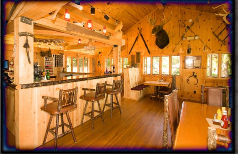 Interior view of Gunflint Lodge.