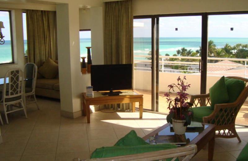 Vacation rental interior at Golden Strand Ocean Villa Resort.