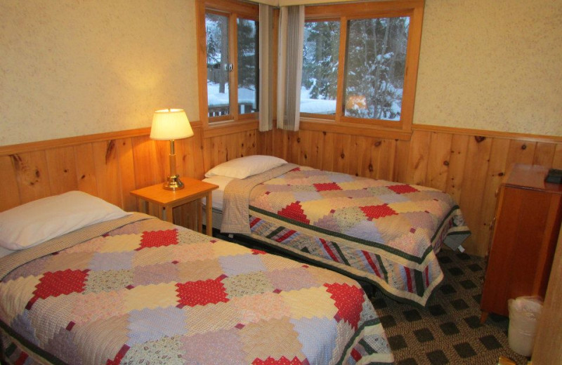 Guest room at Elbow Lake Lodge.
