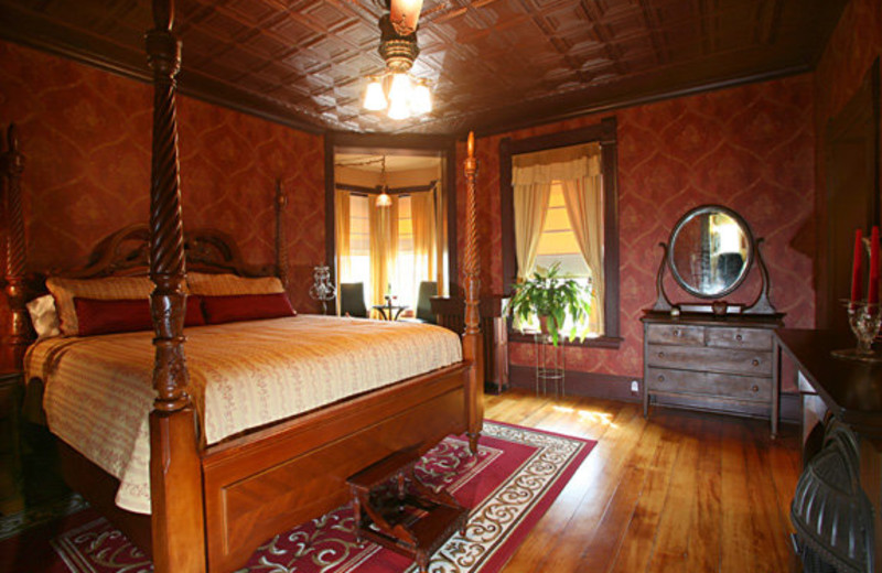 Guest room at Nicolin Mansion Bed & Breakfast.