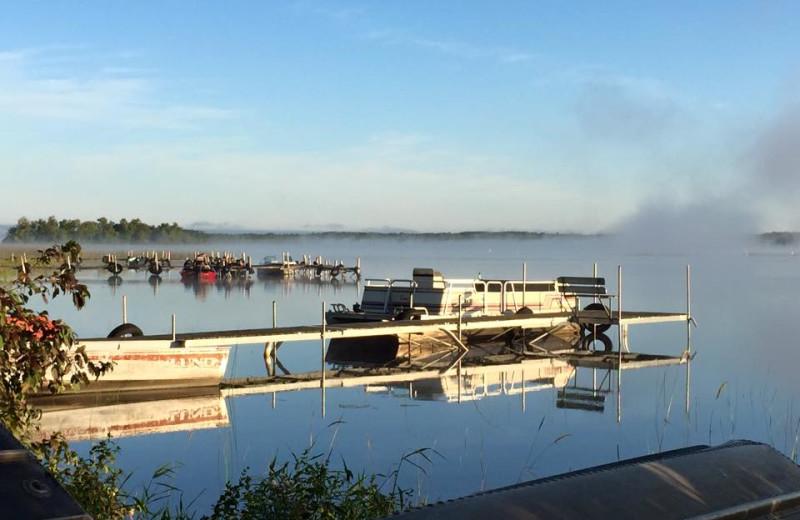 Lake views at Sunset Point Resort.