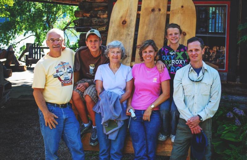 Family at Timberlock.