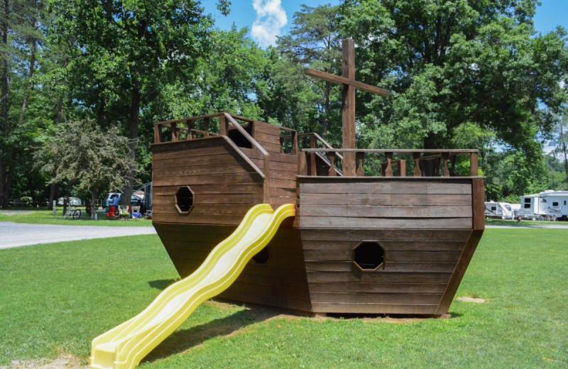 Playground at Yogi at Shangri-La - Jellystone Park.