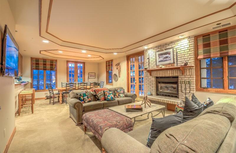 Rental living room at Retreatia.com.