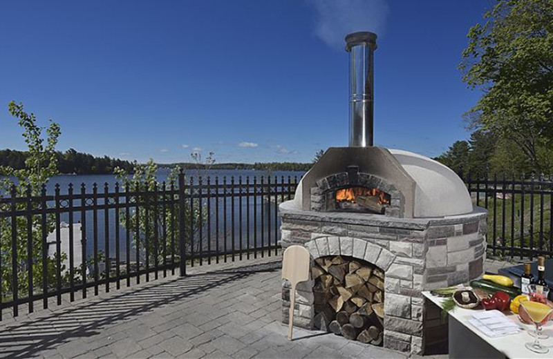 Patio fire place at The Rosseau, A JW Marriott Resort & Spa.