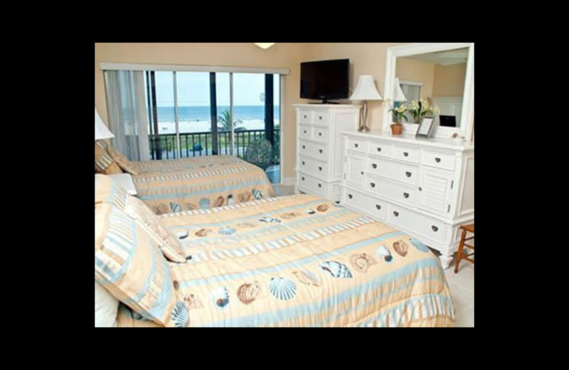 Master bedroom at Crescent Royale Condominiums.