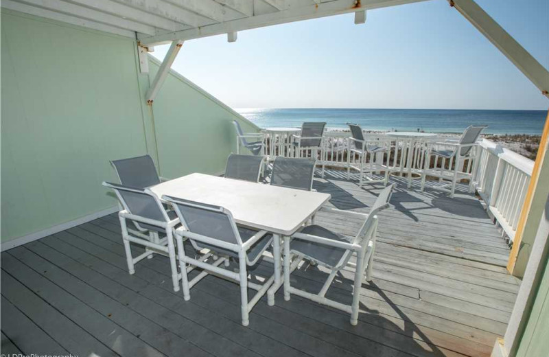 Balcony at Holiday Isle Properties - South Bay by the Gulf 124.