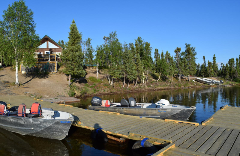 Exterior view of Misaw Lake Lodge.