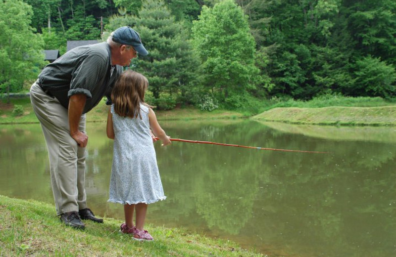 Fishing at Foscoe Rentals.