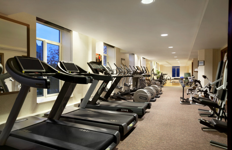 Fitness room at Fairmont Le Manoir Richelieu.