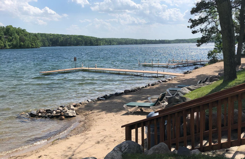 Beach at Kavanaugh's Sylvan Lake Resort.