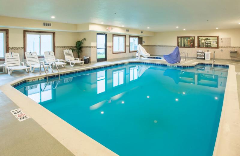 Indoor pool at Comfort Suites Benton Harbor.