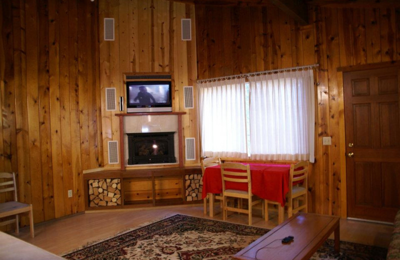 Cabin interior at Fern River Resort.