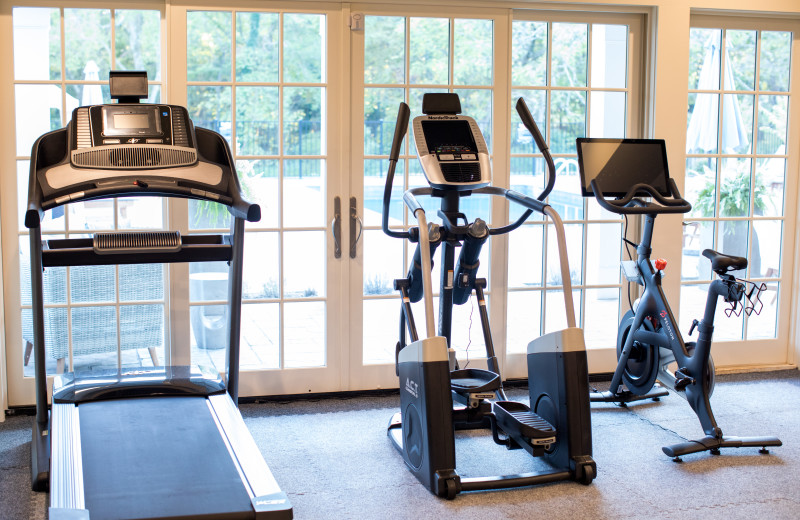 Fitness room at The Inn at Willow Grove.