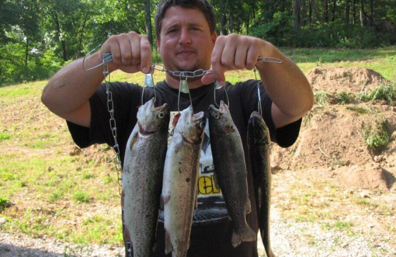 Fishing at Riverwood Resort.