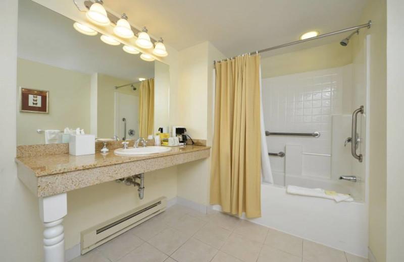 Guest bathroom at Bar Harbor Grand Hotel.