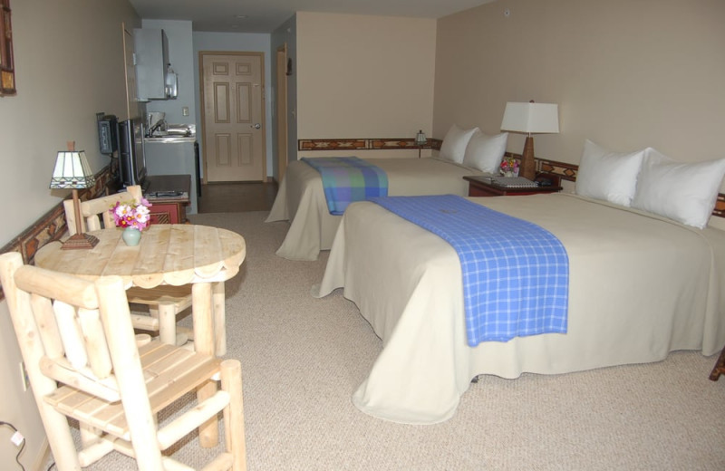Guest room at August Lodge Cooperstown.