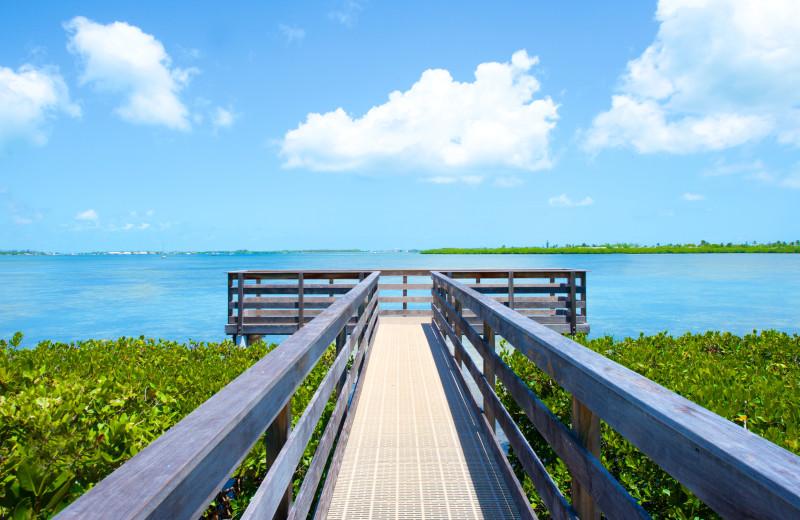 Fishing dock at Parrot Key Resort.