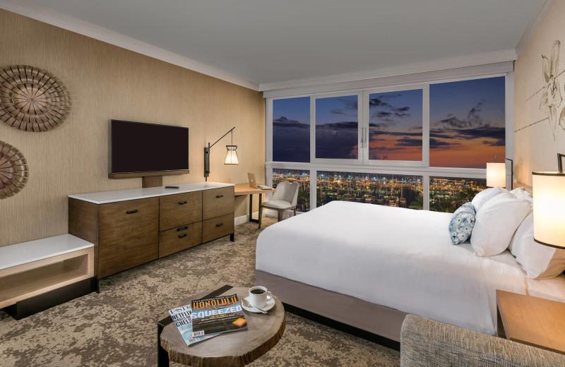 Guest room at Prince Waikiki.
