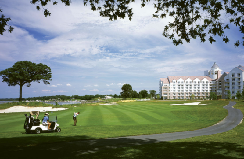 Golf course at Hyatt Regency Chesapeake Bay Golf Resort, Spa and Marina.