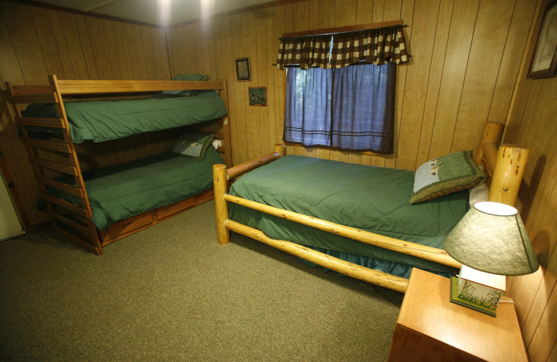 Cabin room at Coffee Creek Ranch.