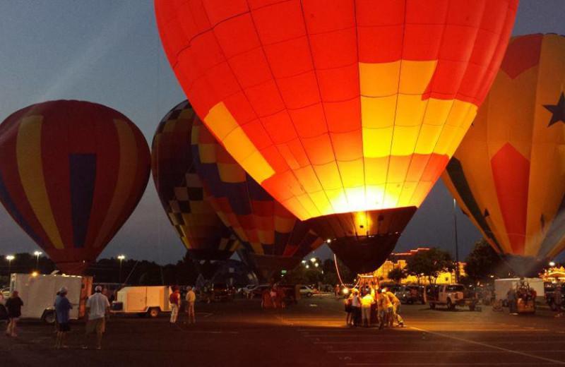 Hot air balloons at Hollywood Casino Tunica.