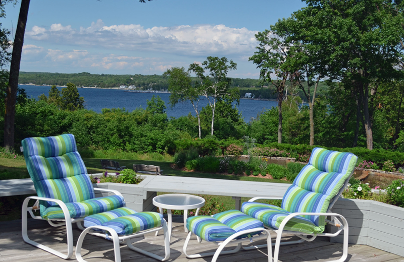 Relax on the patio at Country House Resort.