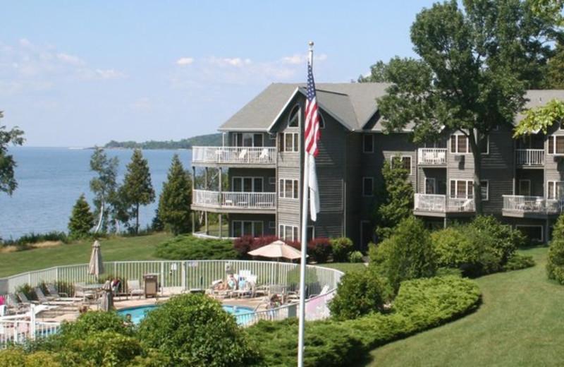 Resort view at Bay Shore Inn.