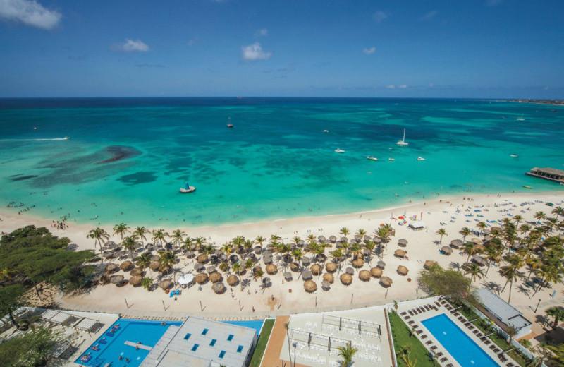 Beach at Riu Palace Antillas Hotel.