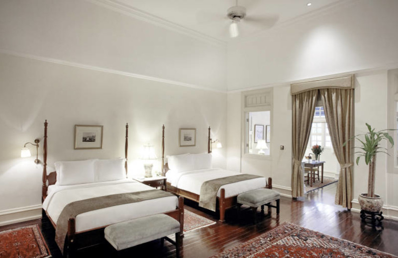 Guest room at Raffles Hotel - Singapore.