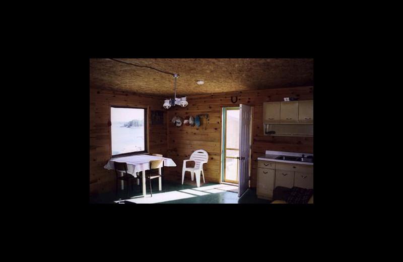 Cabin kitchen at Stokes Bay Resort.