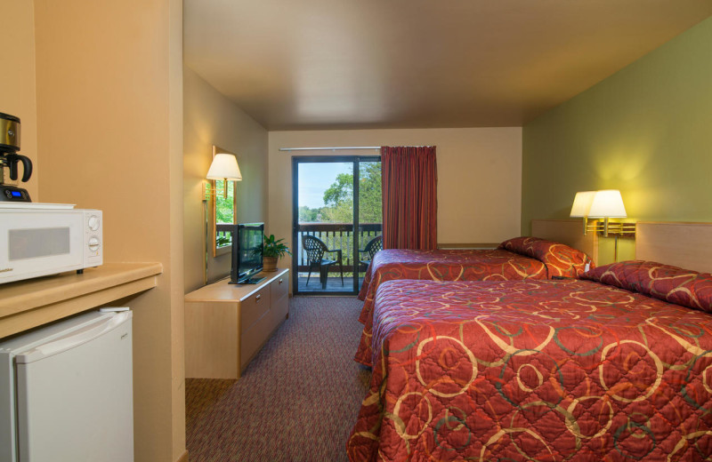 Guest room at Baker's Sunset Bay Resort.
