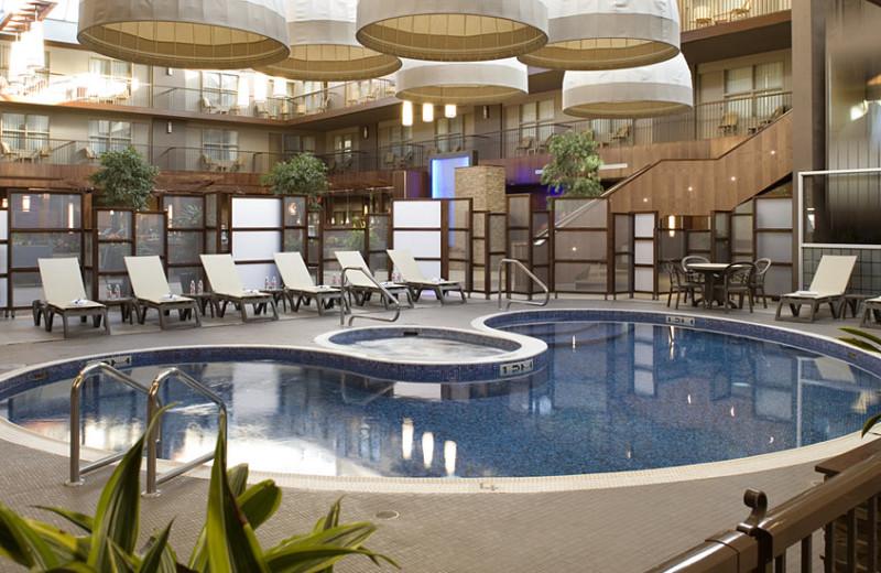Indoor pool at Delta Calgary South.