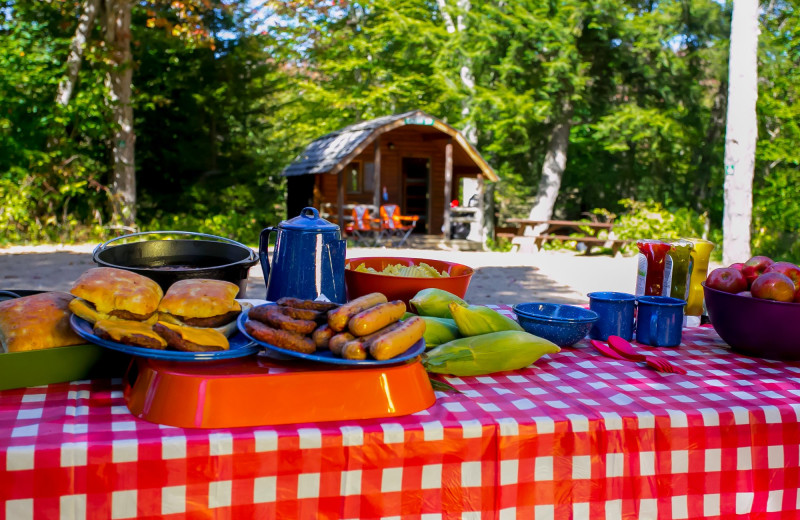 Picnic at Old Forge Camping Resort.