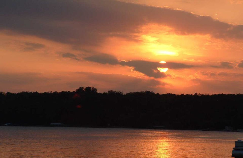Beautiful sunset at Train Bell Resort.